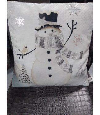 GANZ EX26498 WINTER SNOWMAN PILLOW