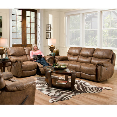 FRANKLIN 41542-8337-15 SOFA 2 RECLINER RICHMOND WALNUT