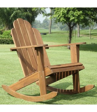 LINON 21152T36-01-KD-U ADIRONDACK ROCKING CHAIR TEAK