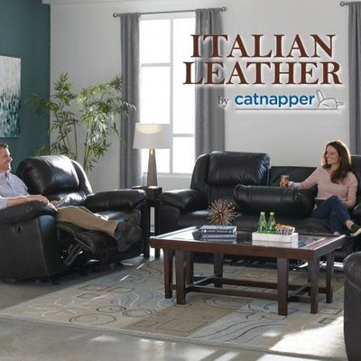 CATNAPPER 49122-1284-29 LOVESEAT 2 REC ROCKING LEATHER CHOCOLATE