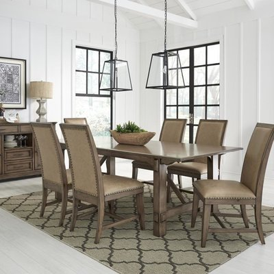 "STANDARD 14881 DINING TABLE W/ 18"" LEAF ASPEN"
