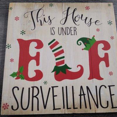 GANZ EX26627 WALL DECOR THIS HOUSE IS UNDER ELF