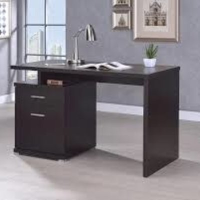 COASTER 800109 OFFICE DESK W/ 2 DRAWERS IRVING CAPPUCCINO