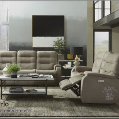 FLEXSTEEL S2810-62H-407-01 POWER REC SOFA W/HD&L  ARLO