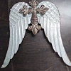 134392 WALL DECOR CROSS WITH WINGS