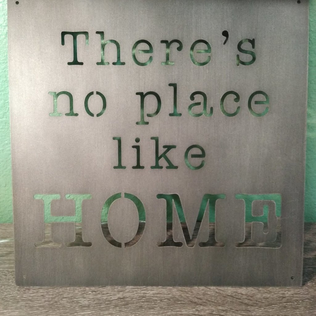 GANZ 163236 WALL DECOR THERE'S NO PLACE LIKE HOME