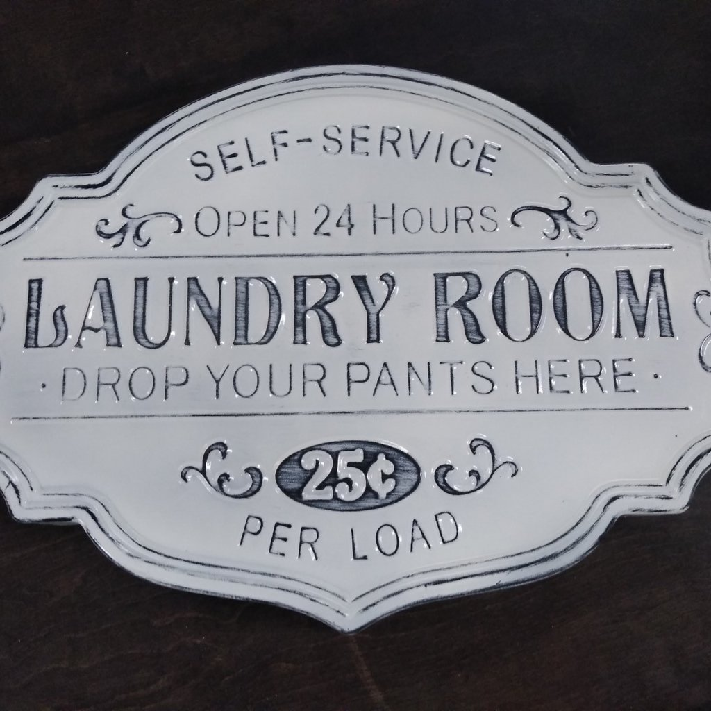GANZ 163445 WALL DECOR LAUNDRY SIGN