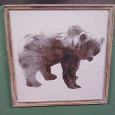 GANZ 168272 WALL DECOR BEAR FRAME