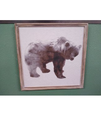 GANZ WALL DECOR BEAR FRAME