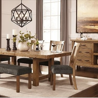 ASHLEY D714-45 TABLE DINING TAMILO WEATHERED HONEY