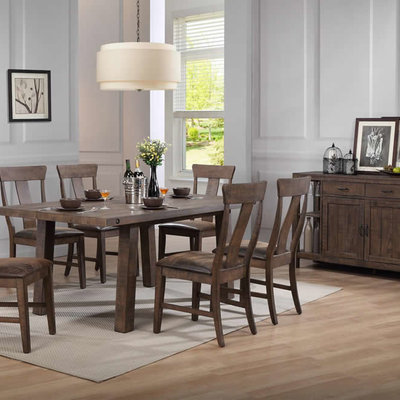 TENNESSEE ENTERPRISES TL4072 DINING  TABLE THE LOFT BROWN DISTRESSED