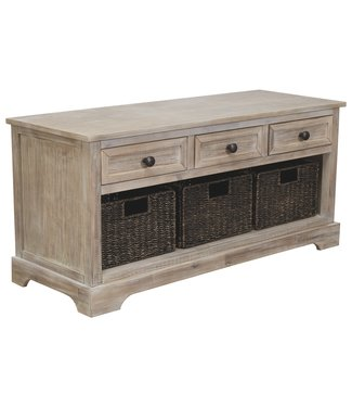ASHLEY STORAGE BENCH WITH BASKETS OSLEMBER