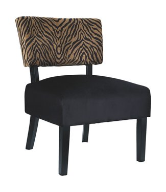 ASHLEY A3000181 ACCENT CHAIR PARVIN ZEBRA GOLD
