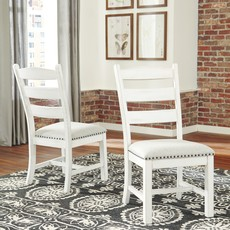 ASHLEY D546-01 DINING CHAIR VALEBECK BEIGE/WHITE