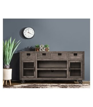 ELEMENTS MAIN300TV MEDIA CONSOLE INDUSTRIAL GREY