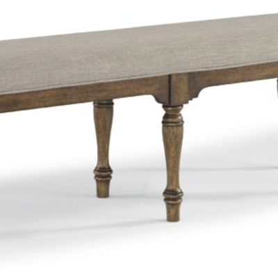 FLEXSTEEL W1147-869 DINING BENCH PLYMOUTH BROWN