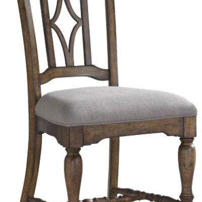 FLEXSTEEL W1147-844 DINING CHAIR PLYMOUTH BROWN