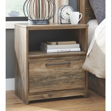 ASHLEY B322-91 NIGHTSTAND ONE DRAWER RUSTHAVEN BROWN
