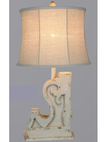 VINTAGE DIRECT TABLE LAMP DISTRESSED WHITE