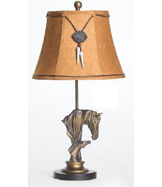 """VINTAGE DIRECT TABLE LAMP HORSES 26""""H"""