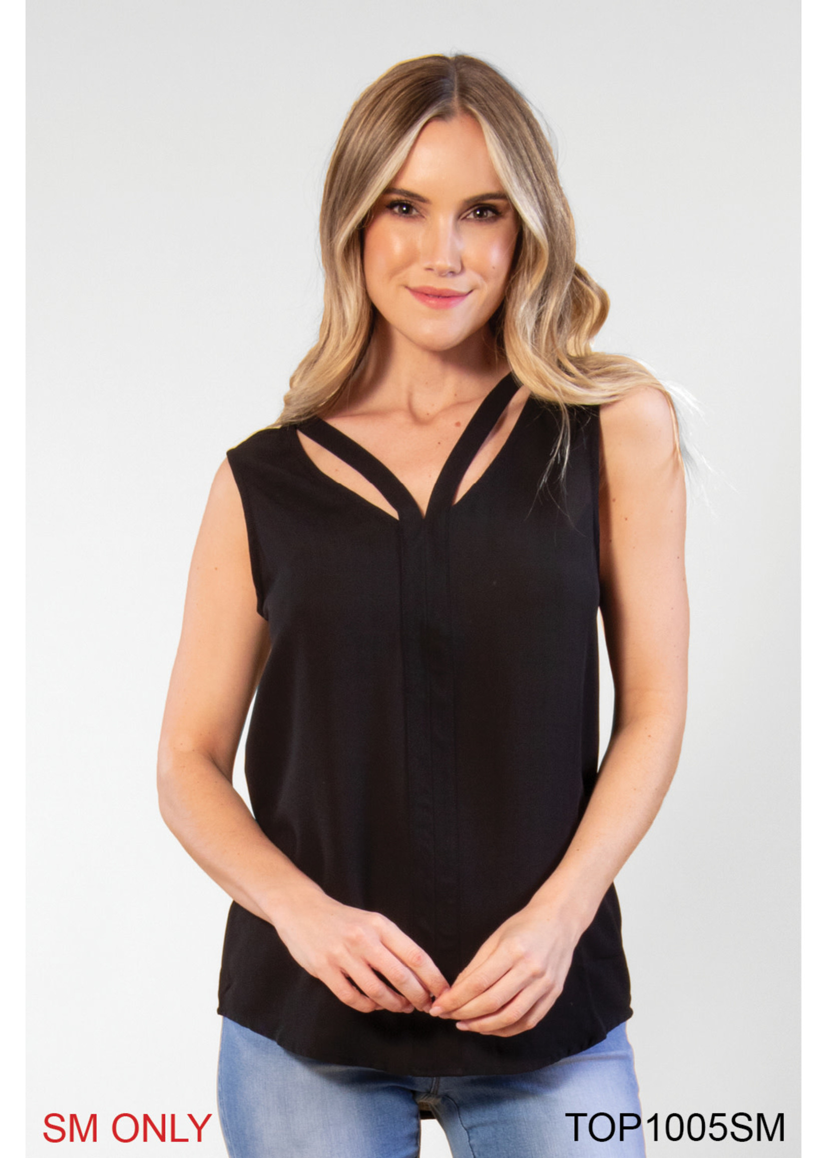 SIMPLY NOELLE CUT TO THE CHASE TOP ASSORTED COLORS L/XL