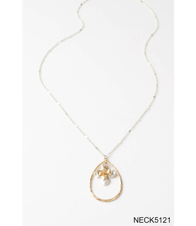 SIMPLY NOELLE NECK-5121 NECKLACE TEARDROP GP FLORAL ASST.