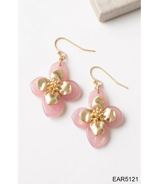SIMPLY NOELLE EARRING GP FLORAL DROP ASST.