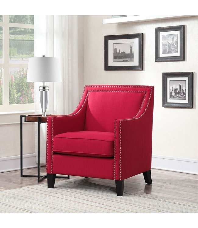 ELEMENTS UER084100CA ACCENT CHAIR ERICA HIERLOOM BERRY