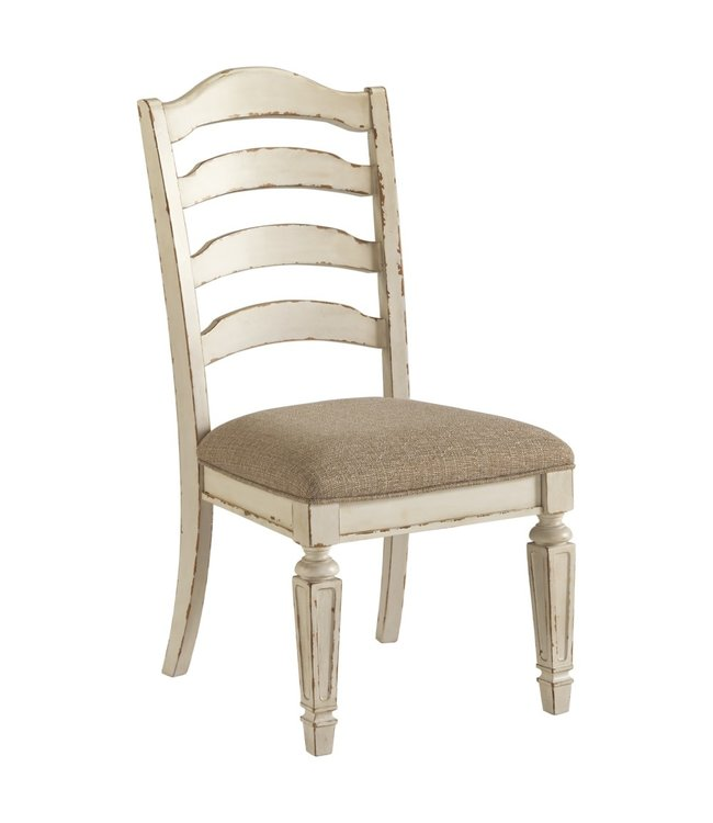 ASHLEY REALYN SIDE CHAIR IN CHIPPED WHITE