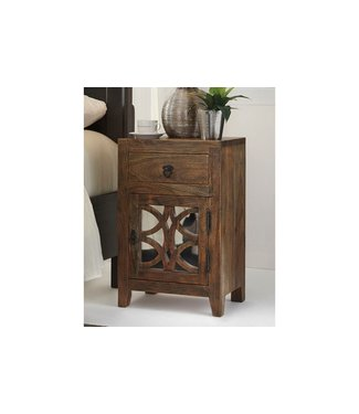 ASHLEY B013-692 NIGHTSTAND 1DR CHARLOWE BROWN ACACIA