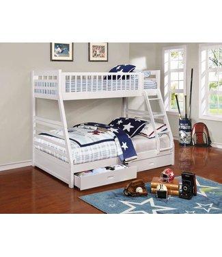 COASTER 460180 T/F BUNK BED ASHTON WHITE 2 DRAWER