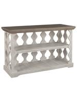 ASHLEY T814-5 CONSOLE TABLE HAVALANCE GREY/WHITE