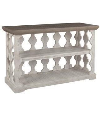 ASHLEY T814-5 CONSOLE TABLE HAVALANCE GREY/WHITE