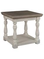 ASHLEY END TABLE HAVALANCE GREY/WHITE