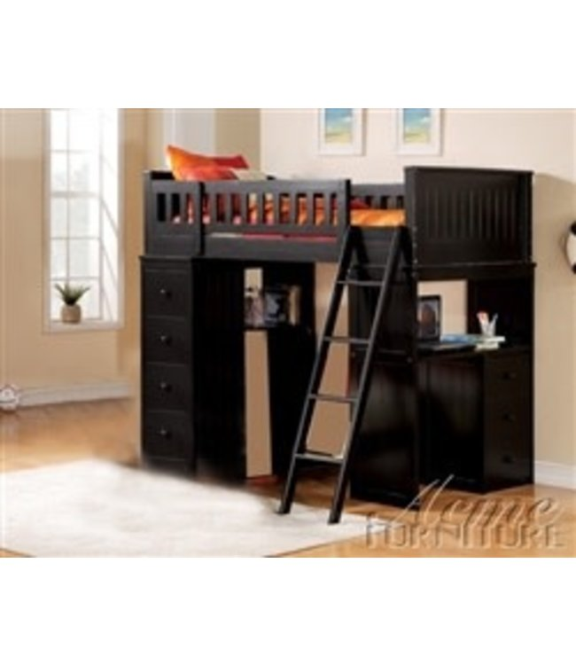 ACME WILLOUGHBY LOFT BUNK BED IN BLACK