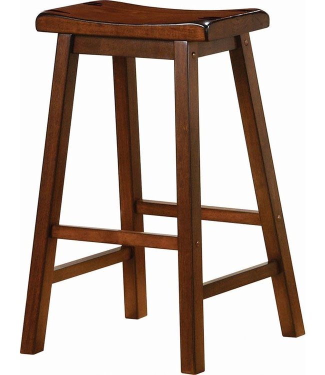 COASTER 180079 STOOL SADDLE DARK WALNUT 29""