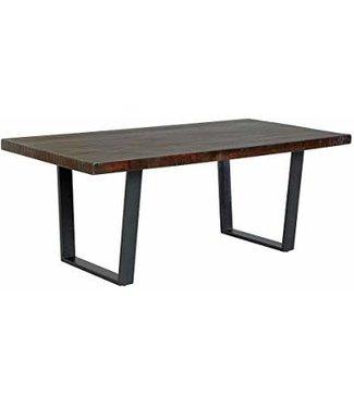 ASHLEY D665-25 TABLE DINING ESMARINA  LIVE EDGE WOOD & METAL