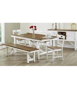 LARGO D259-31 DINING TABLE SAGECREST ALDER/WHITE