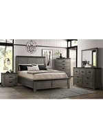 ELEMENTS WADE KING PANEL BED GRAY