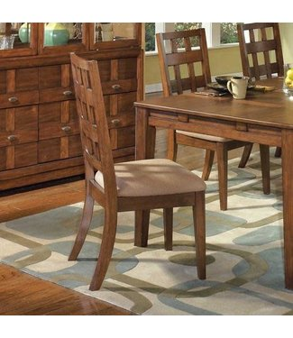 ASHLEY SIDE CHAIR UPH CLIFTON PARK MEDIUM WALNUT
