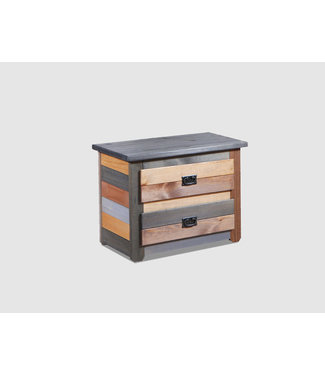 PINE CRAFTER MC92 NIGHTSTAND 2DR MULTICOLOR
