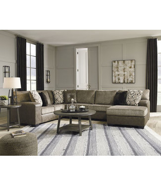 ASHLEY 9130217/34/66 SECTIONAL 3 PC ABALONE