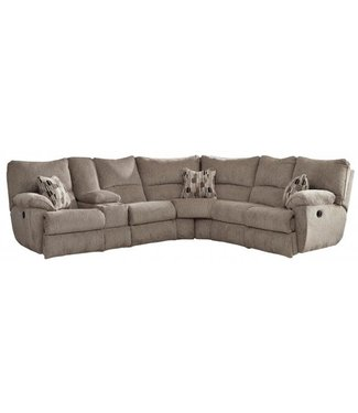 CATNAPPER 2256/57-2152-38 SECTIONAL 3 RECLINER ELLIOT PEWTER