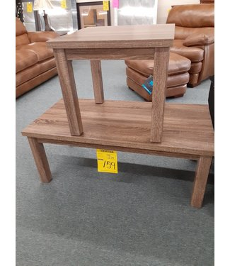 2 PIECE OCCASIONAL TABLE SET WITH WOOD GRAIN FINISH