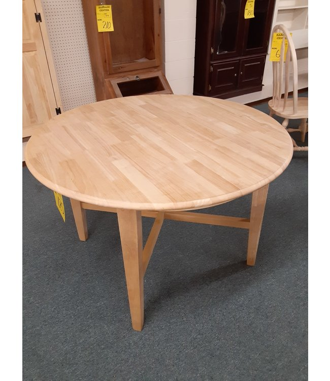 """TABLE DEVONSHIRE UNFINISHED 45"""" ROUND"""