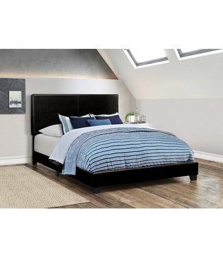 COASTER 300761Q 5/0 UPHOLSTERED BED BLACK