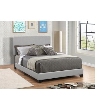COASTER 300763Q 5/0 UPHOLSTERED BED DORIAN GREY FAUX LEATHER