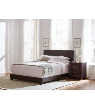 COASTER 300762KE 6/6 UPHOLSTERED BED DORIAN BROWN FAUX LEATHER