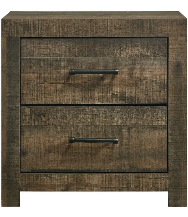 ELEMENTS BAILEY 2 DRAWER NIGHTSTAND IN DRIFT FINISH