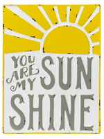 """GIFTCRAFT """"YOU ARE MY SUNSHINE"""" METAL WALL DECOR"""